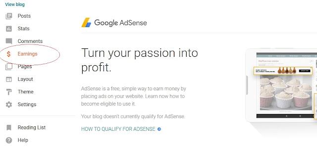 Cara Add Site Blogspot di Google Adsense