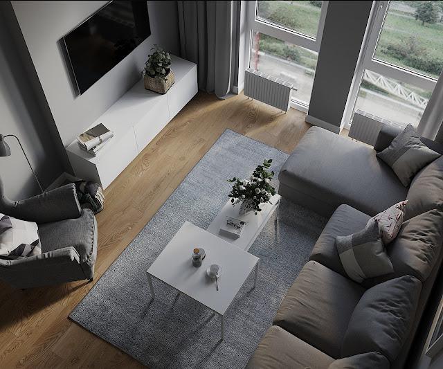 Thiết kế và thi công hoàn thiện nội thất căn hộ chung cư Sunshine City Quận 7 - Phòng khách
