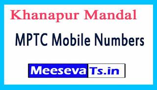Khanapur Mandal MPTC Mobile Numbers List Warangal District in Telangana State
