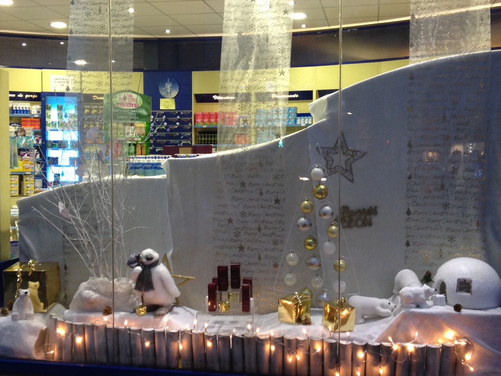 Decoration De Noel Vitrine