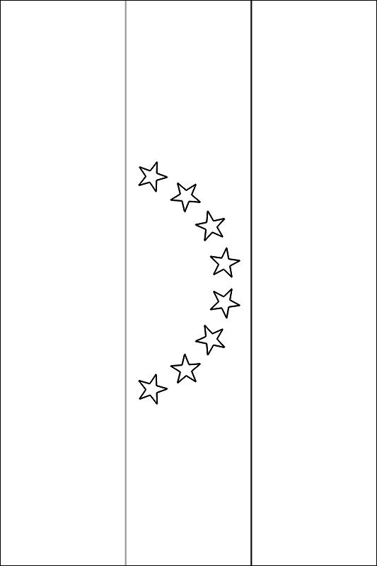 Imagen Para Colorear La Bandera De Venezuela Con 8 Estrellas