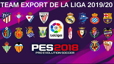 PES 2018 PS3 Team Export La Liga Santander 2019/2020