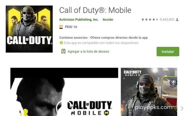 Descargar Call of Duty Mobile  en android