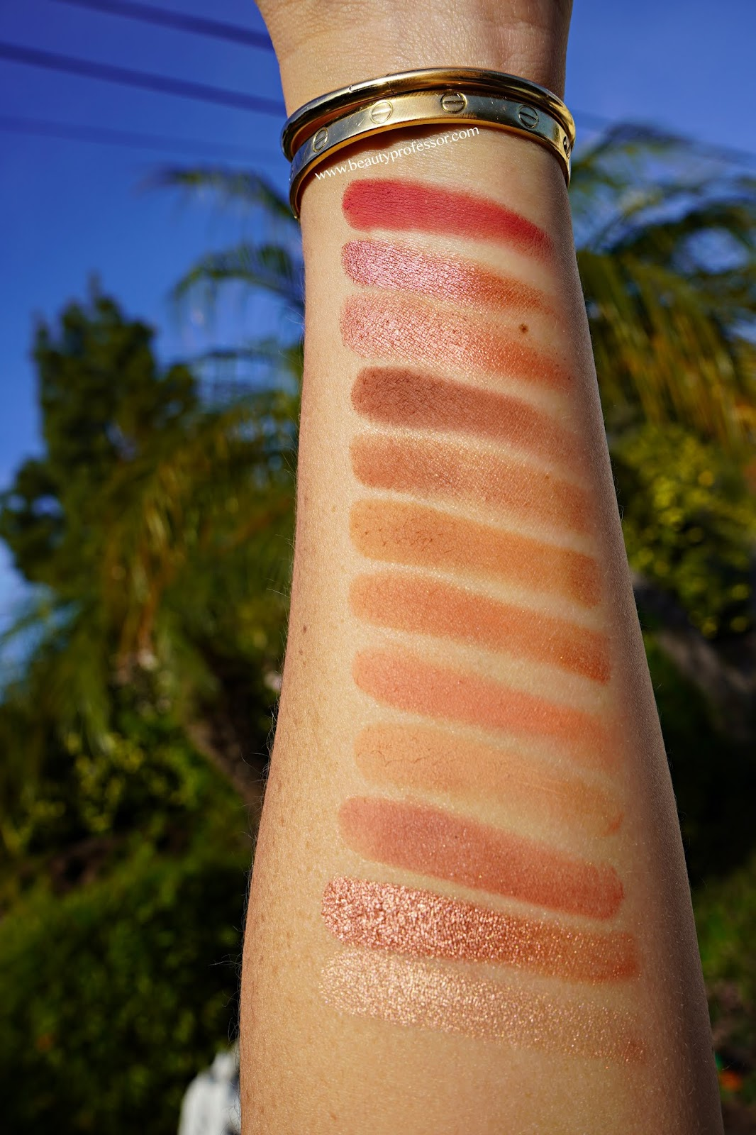 Charlotte Tilbury Pillow Talk Instant Eye Palette swatches