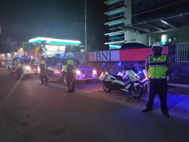 Kegiatan Patroli Malam Sat Lantas Sasar Perbankan Untuk Jaga Kamtibmas