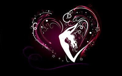 Black And Pink Heart Wallpaper Letter A Studio