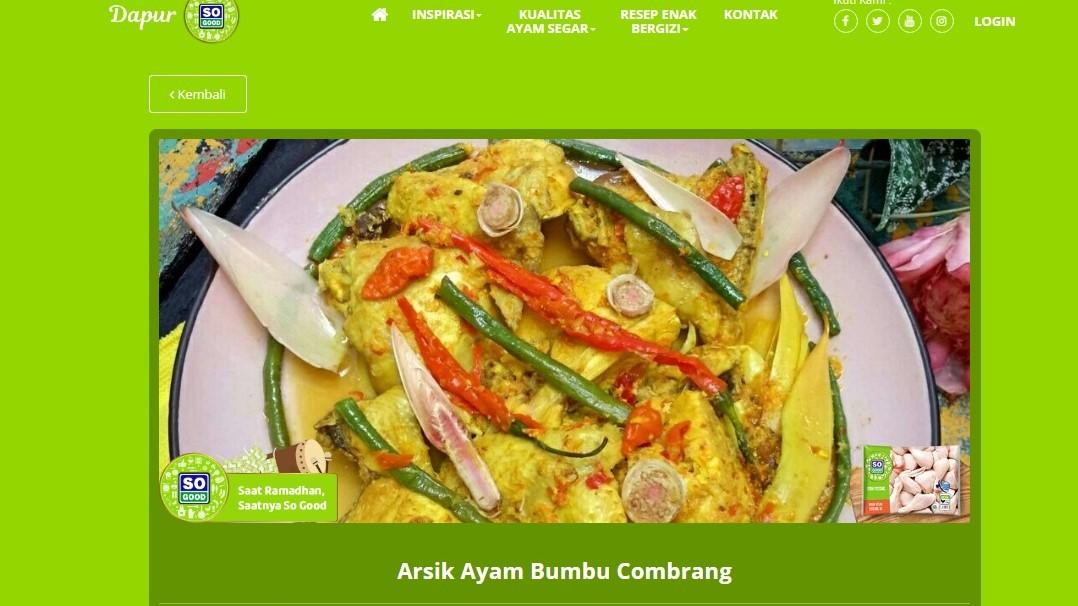 Pemenang Lomba Kreasi Masak So Good Kreatif Mengolah Masakan Sehat Enak Dan Berprotein Tinggi Nunu Halimi