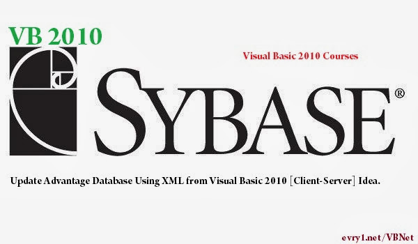 Update Sybase Advantage Database using XML file from Visual Basic 2010 [Client-Server] Idea.