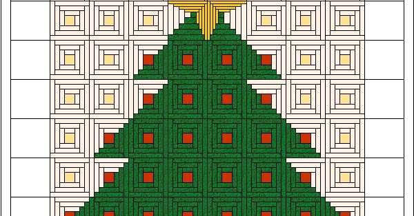 Scrapbox Quilts Log Cabin Christmas Tree