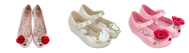 Disney scarpe La bella e la bestia di Melissa