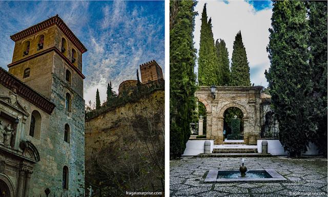 Granada, Andaluzia - Igreja de San Pedro y San Pablo e Paseo de los Tristes