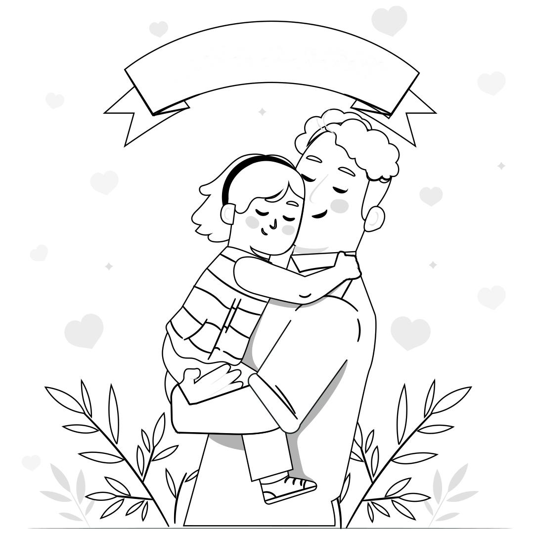 Dia dos Pais desenho; imprimir grátis