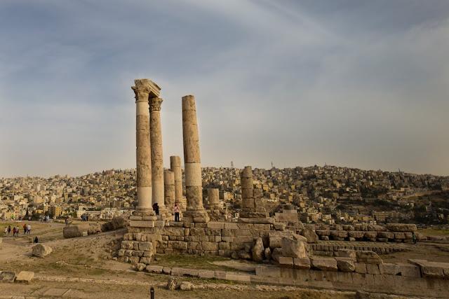 Templo Hércules en la Ciudadela de Amman
