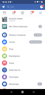 MH Tekno Indonesia - Facebook Mod + Include Messenger Jadi 1 v145.0.0.0.73 - Tanpa Harus Instal App Messenger