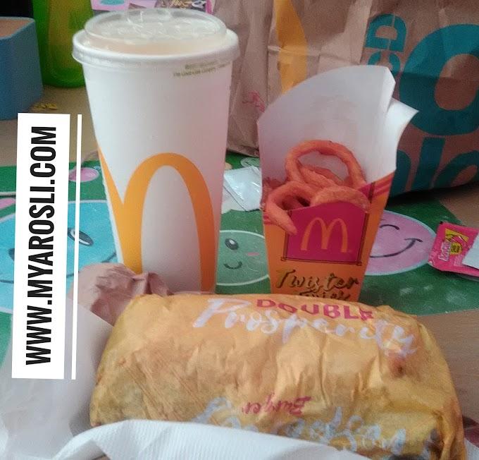 McDonald's Double Chicken Prosperity Burger