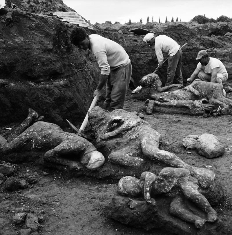 Pompeii mummified bodies