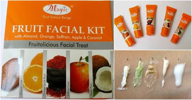 Nature's Essence fruit facial kit.