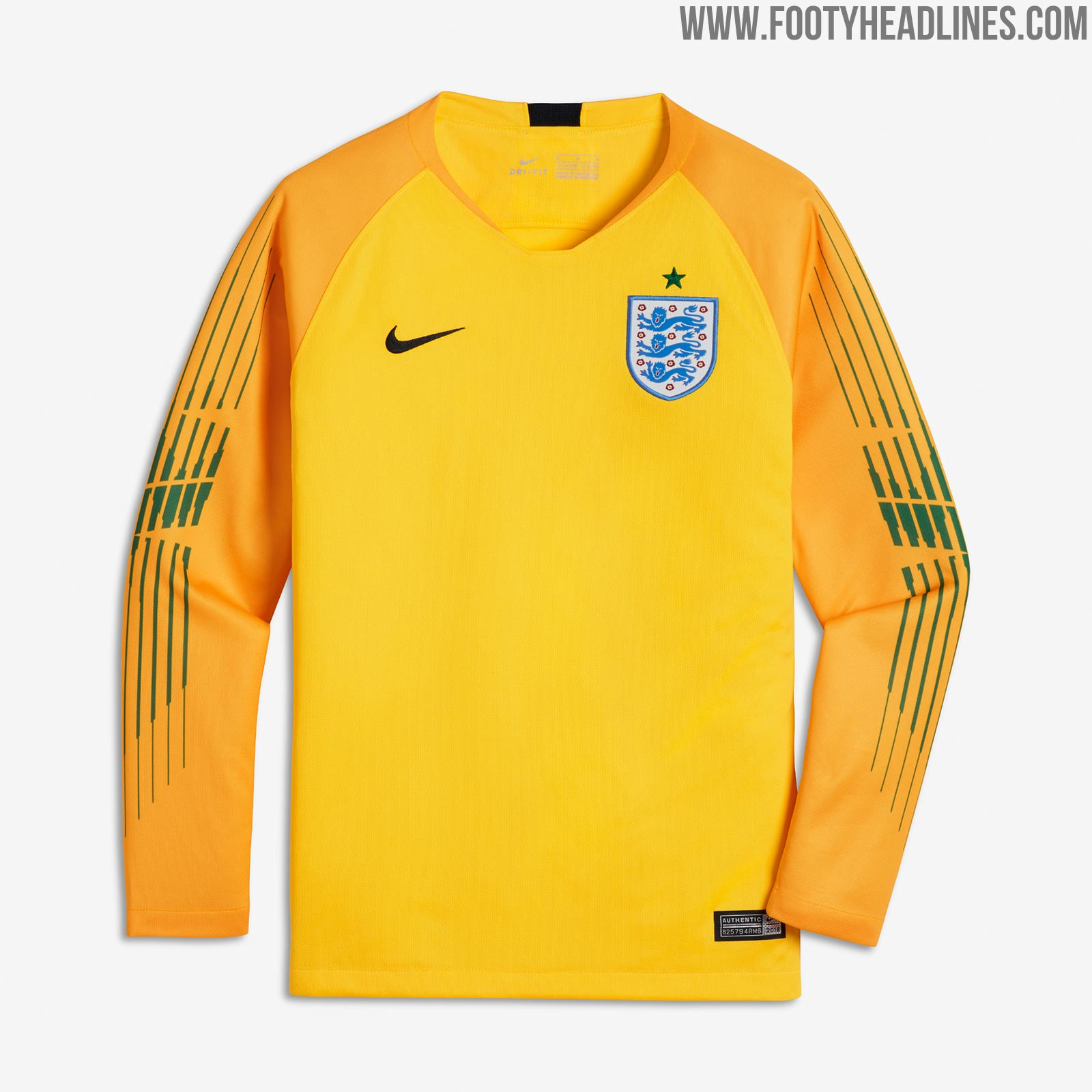 England 2018 World Cup Goalkeeper Kit