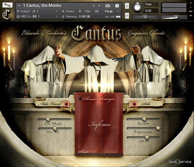 Interface da Library Best Service - Cantus v1.1 (KONTAKT)