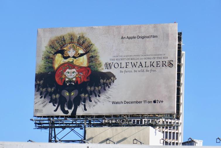 Wolfwalkers film billboard