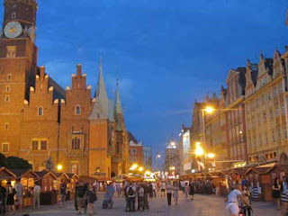 Renek Old Town Main Square Night Wroclaw Poland