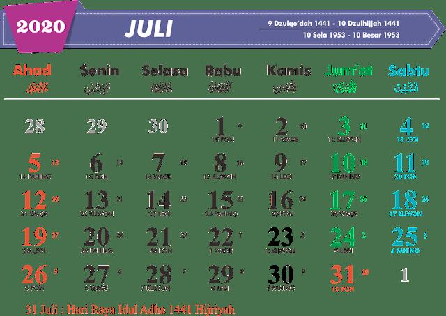 Download Kalender Juli 2020