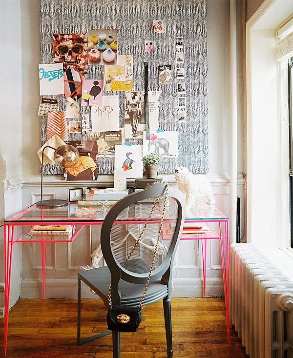 oficina color gris rosa