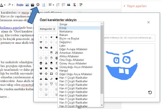 Blogger yayınlarına emoji nasıl eklenir?
