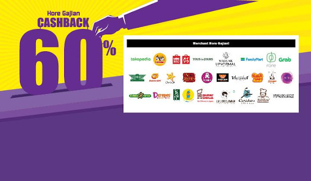#OVO - #Promo Hore Gajian Cashback Hingga 60% di Merchant & Ecommerce (s.d 30 April 2019)