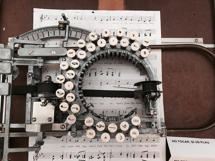 Beautiful Pictures Of A 1950s' Music Typewriter That Is Extremely Rare To Find Today
