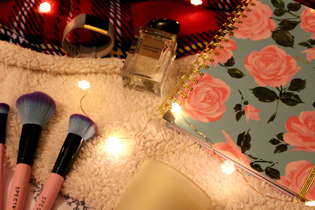 christmas gift guide for her, spectrum brushes, armani, fitbit, bando planner