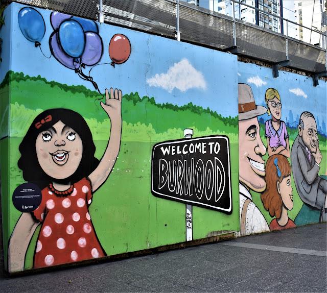Burwood Street Art   Mike Watt, Gina & Tom Deams