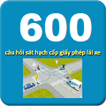 ứng dụng 600 hỏi thi GPLX bằng B2