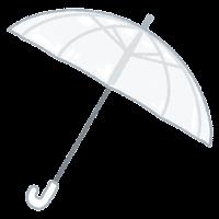 傘のイラスト(透明)