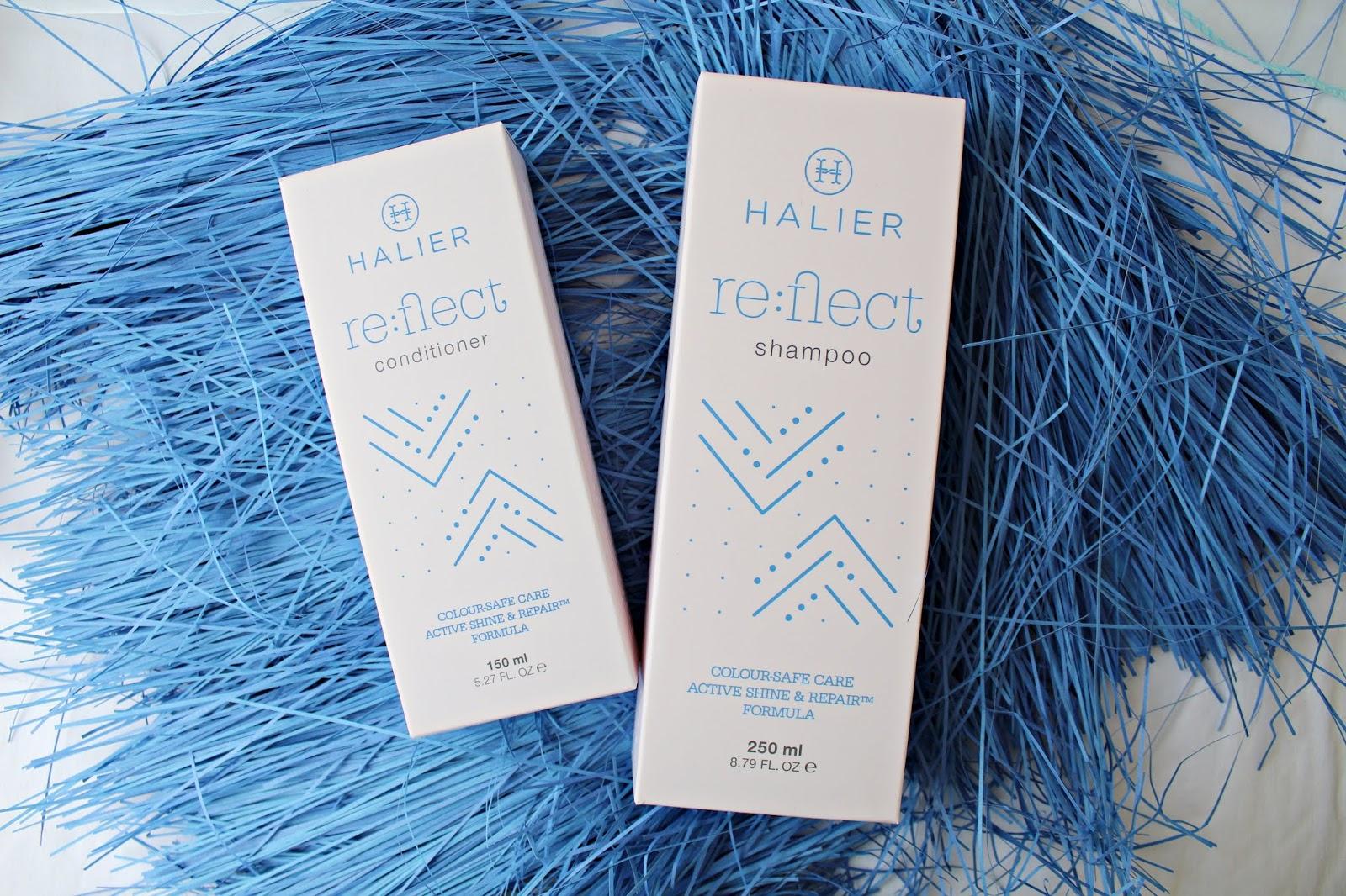 Halier Re:flect - szampon + odżywka do włosów farbowanych
