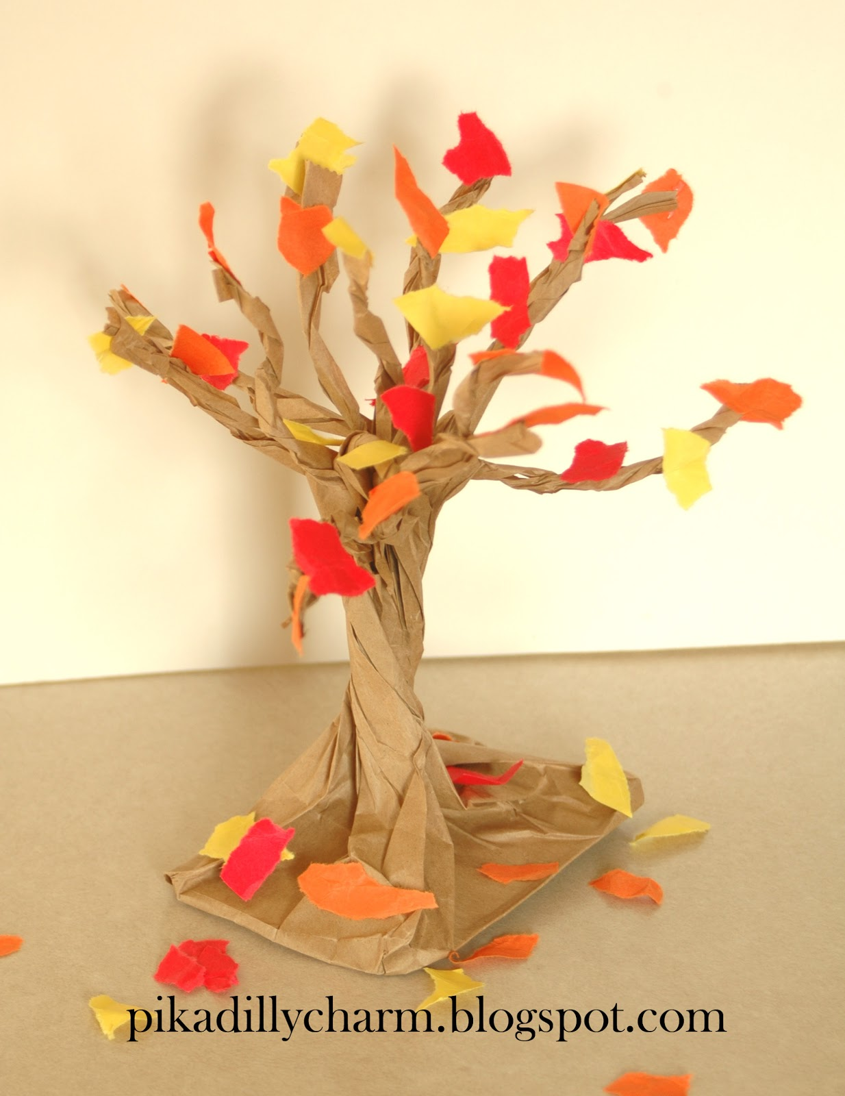Paper Crafts For Kids: Pikadilly Charm: Paper Bag Fall Tree