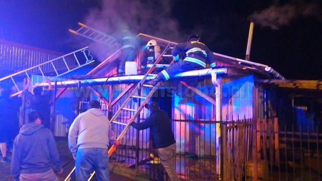 Fuego en vivienda de Osorno