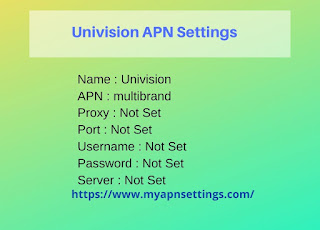 Univision APN Settings for Android iPhone