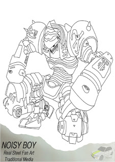 Real Steel Noisy Boy And Other Free Coloring Pages Printables For Kids