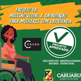 Caruaru receberá recurso do governo Bolsonaro para comprar carro adaptado e ministrar cursos para mulheres com deficiência