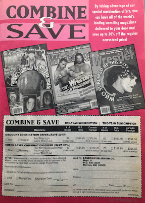 Inside Wrestling  - November 1998 - Combine and Save When You Subscribe to Pro Wrestling Illustrated