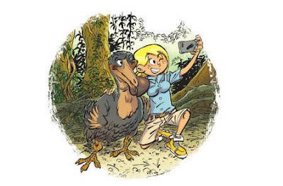 Déborah et le Dodo, la mascotte du zoo des animaux disparus