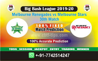 cricket prediction 100 win tips Renegades vs Star
