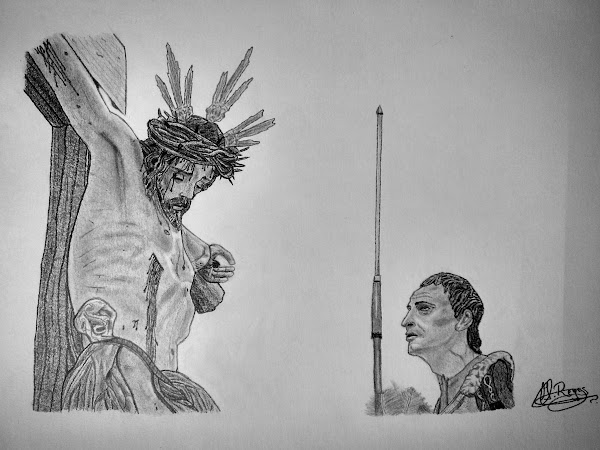 "Dibujo de ""Stmo. Cristo del Desamparo y Abandono."" (Hdad. Cerro - Sevilla)"