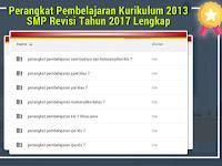 Perangkat Pembelajaran Kurikulum 2013 SMP Revisi Tahun 2017 Lengkap