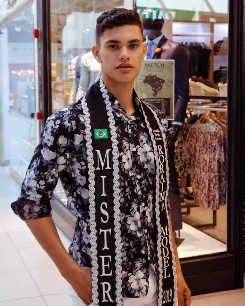 Mister Model Nacional Roraima 2019 - Mycaell Felippin. Foto: Divulgação