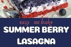 EASY NO BAKE SUMMER BERRY LASAGNA