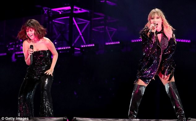 Taylor Swift and Selena Gomez reunite on stage for the Reputation Tour