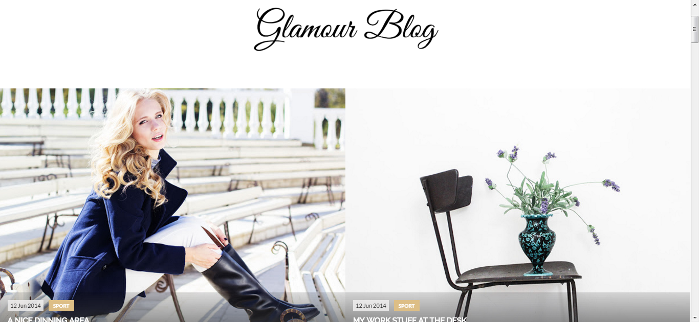 Glamour Blogger Template Free Download - Get any Template
