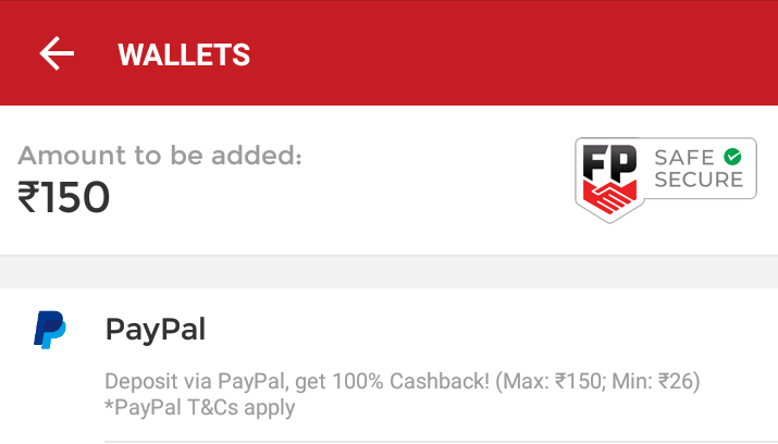 How to Get Rs.150 Cashback on Add Money to Dream11